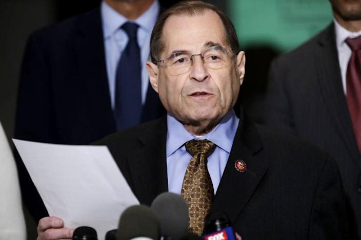 New York Rep. Jerry Nadler at a news conference Wednesday. (Photo: Frank Franklin II/AP)