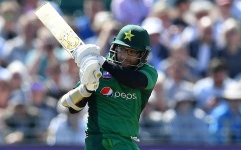 Imam-ul-Haq of Pakistan bats during the 3rd Royal London One Day International between England and Pakistan at The County Ground - Credit: Dan Mullan/Getty Images