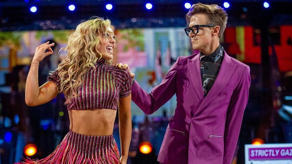 Amy Dowden and Tom Fletcher performing
