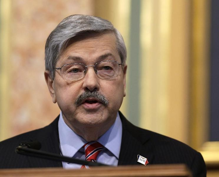 FILE - In this Jan. 15, 2013 file photo Iowa Gov. Terry Branstad delivers the Condition of the State address before the Iowa Legislature at the Iowa Statehouse in Des Moines. As they gear up for re-election campaigns, many GOP governors, particularly those across the upper Midwest, find themselves in positions of strength, having benefited from improving economies if not changes of heart over their policies. Branstad enacted strict budget measures. But he failed to make headway on education and business tax reform. And he wasn't able to trim unionized state employee health benefits. (AP Photo/Charlie Neibergall, File)