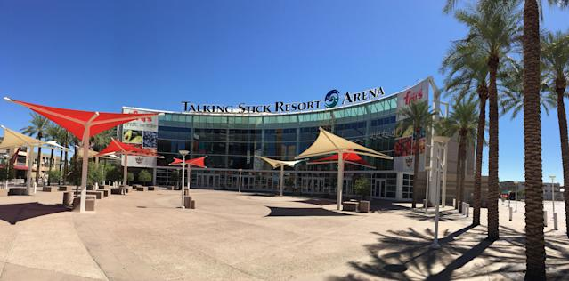 The city is considering renovations for Talking Stick Resort Arena in Phoenix. (Getty)