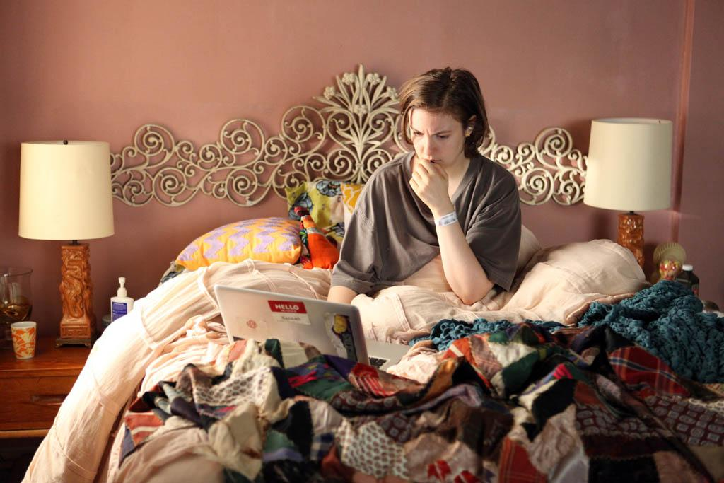 "Lena Dunham in the ""Girls"" Season 2 episode, ""Together."""