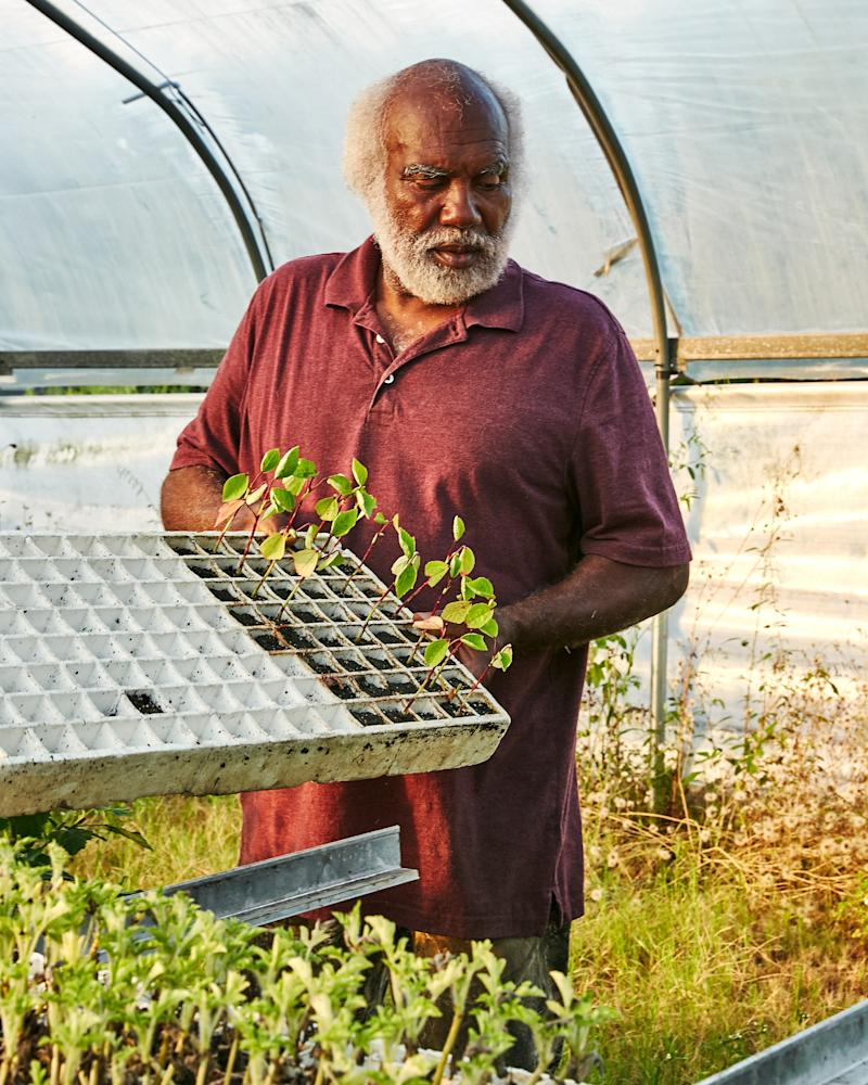 Jackie Frazier at Barefoot Farms on the island of St. Helena in South Carolina
