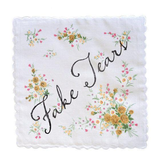 """<i>Buy it from<a href=""""https://www.etsy.com/listing/246657342/fake-tears-handkerchief?ref=shop_home_active_13"""" target=""""_blank"""">Fairgoods on Etsy</a>for $10+.</i>"""