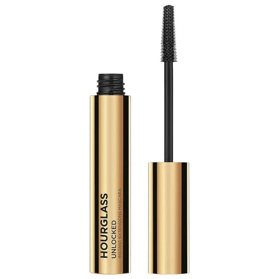 <p>This <span>Hourglass Unlocked Instant Extensions Lengthening Mascara</span> ($29) is the newest product in my arsenal, and it's so good that my mom asked me to buy her one too. This mascara has a tubing effect, so the product clings to your lashes and stays all day. Plus, it's very lengthening and gives a fluttery effect.</p>