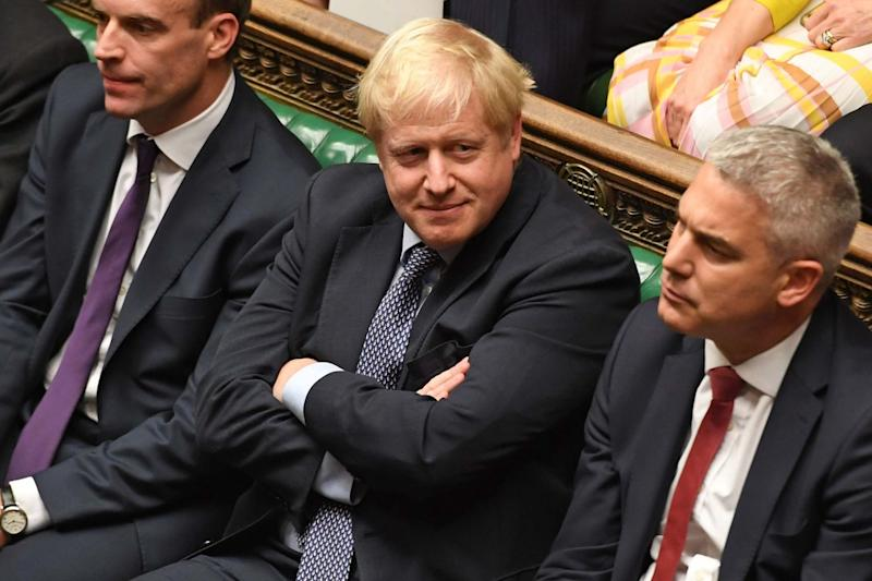 Prime Minister Boris Johnson in the Commons (UK PARLIAMENT/AFP via Getty Images)
