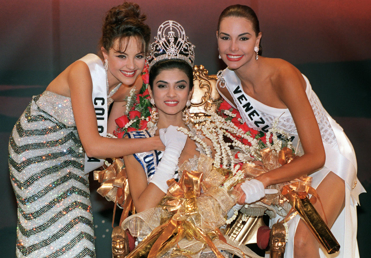 <p>Nearly three decades after Reita Faria won the Miss World title in 1966, Sushmita Sen, an 18-year-old from Delhi, was crowned as Miss Universe 1994. The same year, Aishwarya Rai also won the Miss World title. The two young ladies did the nation proud at a time when India's socio-economic landscape was undergoing major changes owing to globalisation. In the years that followed, India won another Miss Universe title—Lara Dutta (2000); five more Miss World titles—Diana Hayden (1997), Yukta Mookhey (1999), Priyanka Chopra (2000), Manushi Chhillar (2017), and one Miss Earth title—Nicole Faria (2010). (Image courtesy: AFP) </p>
