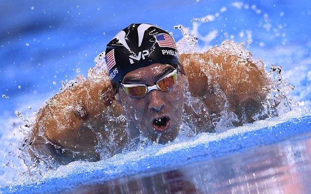 Michael Phelps at the Rio Olympics in 2016 - AFP or licensors