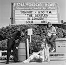 """<p>Another hot ticket in 1964 was to see The Beatles perform live at the Hollywood Bowl. Weren't alive to see it? You can purchase their album with recordings from the show on <a href=""""https://www.amazon.com/Live-At-Hollywood-Bowl-Beatles/dp/B01IO7OHTU?tag=syn-yahoo-20&ascsubtag=%5Bartid%7C10063.g.35661651%5Bsrc%7Cyahoo-us"""" rel=""""nofollow noopener"""" target=""""_blank"""" data-ylk=""""slk:Amazon"""" class=""""link rapid-noclick-resp"""">Amazon</a>. </p>"""