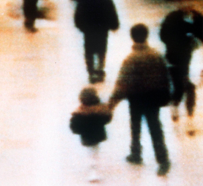 <em>The two child killers were seen on CCTV walking off with James (Rex)</em>