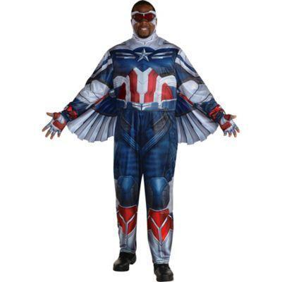 """<p>partycity.com</p><p><strong>$54.99</strong></p><p><a href=""""https://www.partycity.com/falcon-costume-plus-size-for-adults---marvel-the-falcon-and-the-winter-soldier-P905150.html?dwvar_P905150_size=Plus&cgid=group-costumes-tv-movie"""" rel=""""nofollow noopener"""" target=""""_blank"""" data-ylk=""""slk:Shop Now"""" class=""""link rapid-noclick-resp"""">Shop Now</a></p><p>Falcon's latest uniform upgrade doesn't come with the shield. Let's say you're dressing as an earlier episode version of the reluctant hero.</p>"""