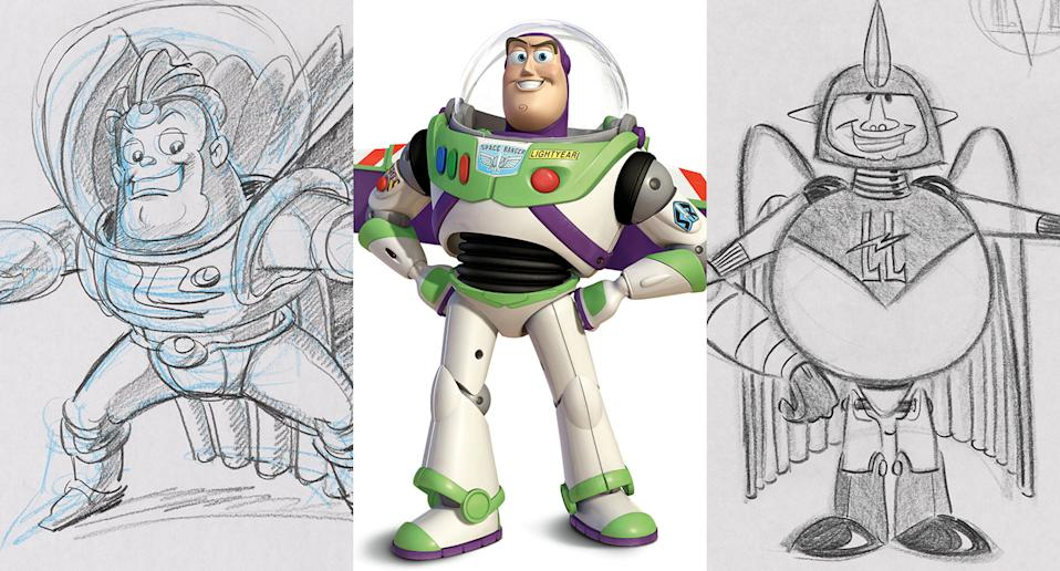 Previously unseen concepts for Buzz Lightyear. (Disney/Pixar)