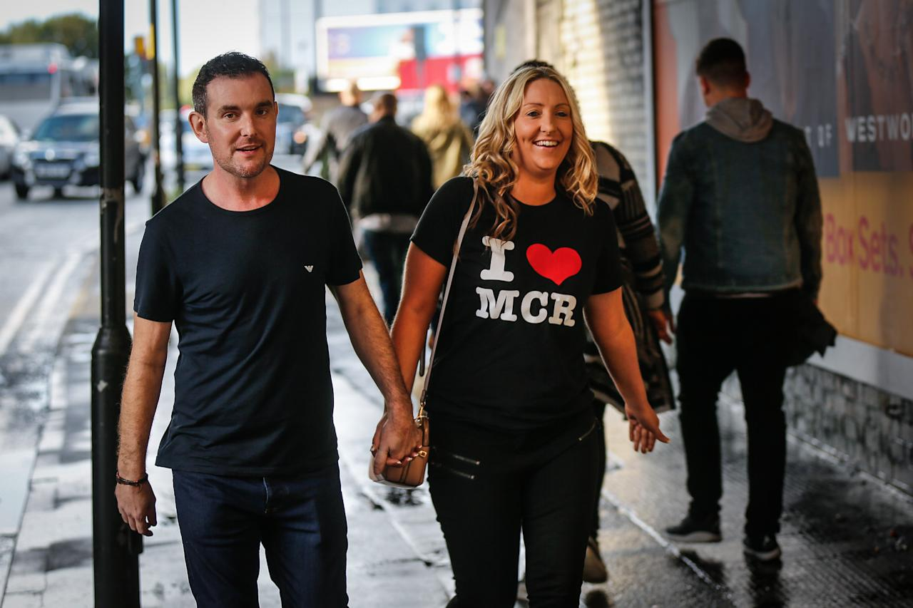<p>The devastated area was partly renovated and re-opened for Saturday's event, titled We Are Manchester, to show the city will not be defeated by terrorism [Picture: SWNS] </p>