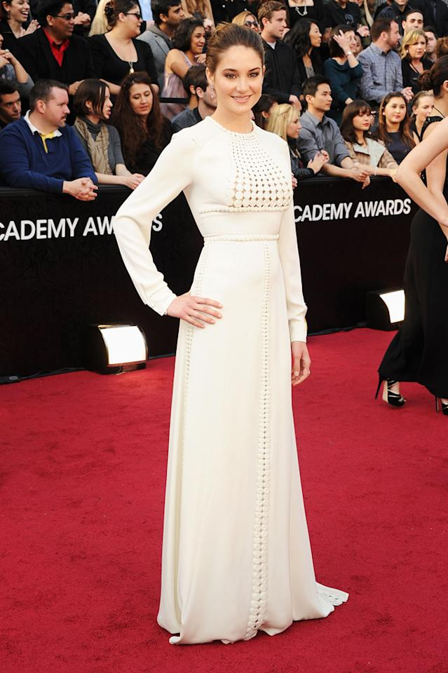 Shailene Woodley arrives at the 84th Annual Academy Awards in Hollywood, CA.