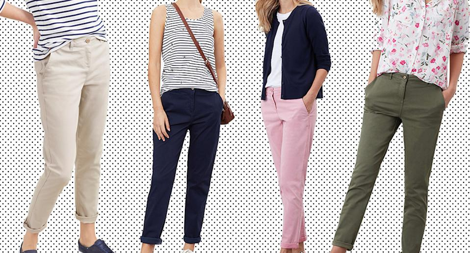 Women are loving these £49.50 Joules chinos. (John Lewis/ Yahoo Style)