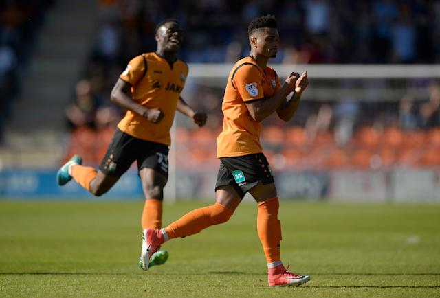 """Soccer Football - League Two - Barnet vs Chesterfield - The Hive, London, Britain - May 5, 2018 Barnet's Richard Brindley celebrates scoring their second goal Action Images/Adam Holt EDITORIAL USE ONLY. No use with unauthorized audio, video, data, fixture lists, club/league logos or """"live"""" services. Online in-match use limited to 75 images, no video emulation. No use in betting, games or single club/league/player publications. Please contact your account representative for further details."""