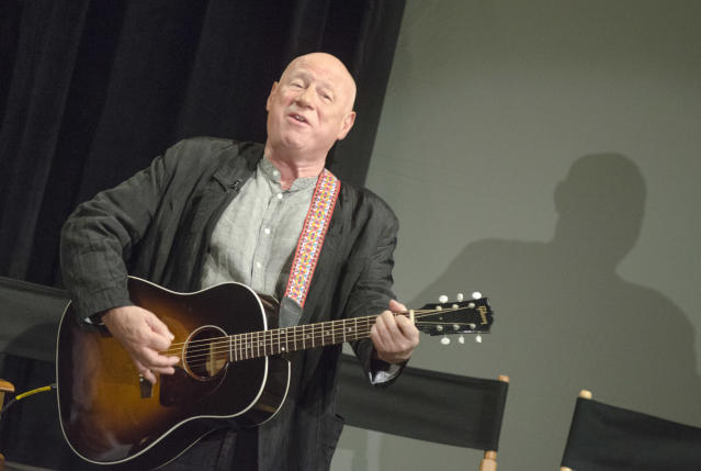 Neil Innes at the <em>50 Years: The Beatles</em> panel discussion at the Ed Sullivan Theater in New York City in 2014. (Kris Connor/Getty Images)