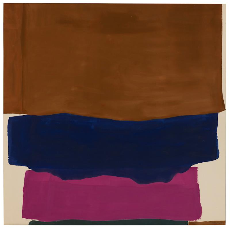 Helen Frankenthaler, Indian Summer, 1967. Acrylic on canvas, 93 ½ x 93 5 / 8 inches. Hirshhorn Museum and Sculpture Garden, Smithsonian Institution, Washington, D.C. Gift of Joseph H. Hirshhorn, 1972. © 2019 Helen Frankenthaler Foundation, Inc. / Artists Rights Society (ARS), New York.
