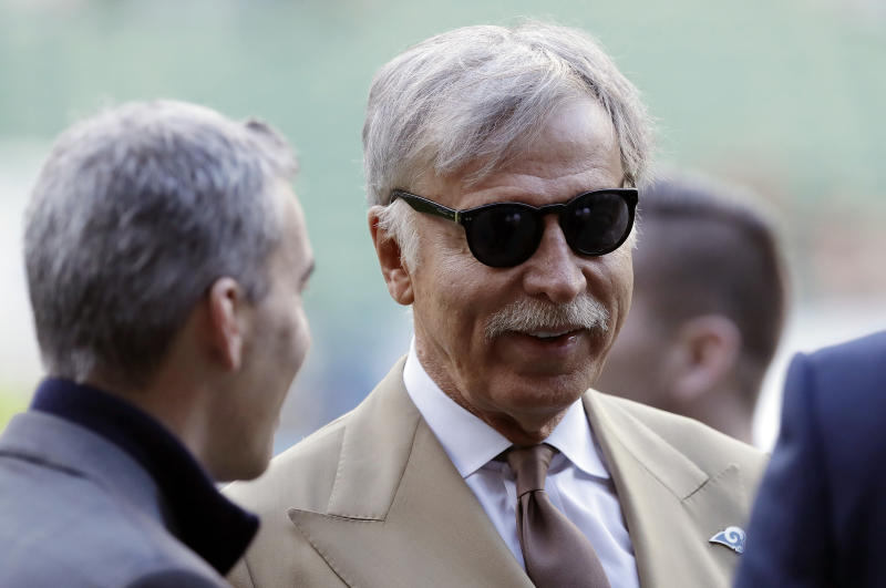 Stan Kroenke's new Rams stadium in Inglewood, Calif. will be the most expensive sports stadium in the United States. (AP)