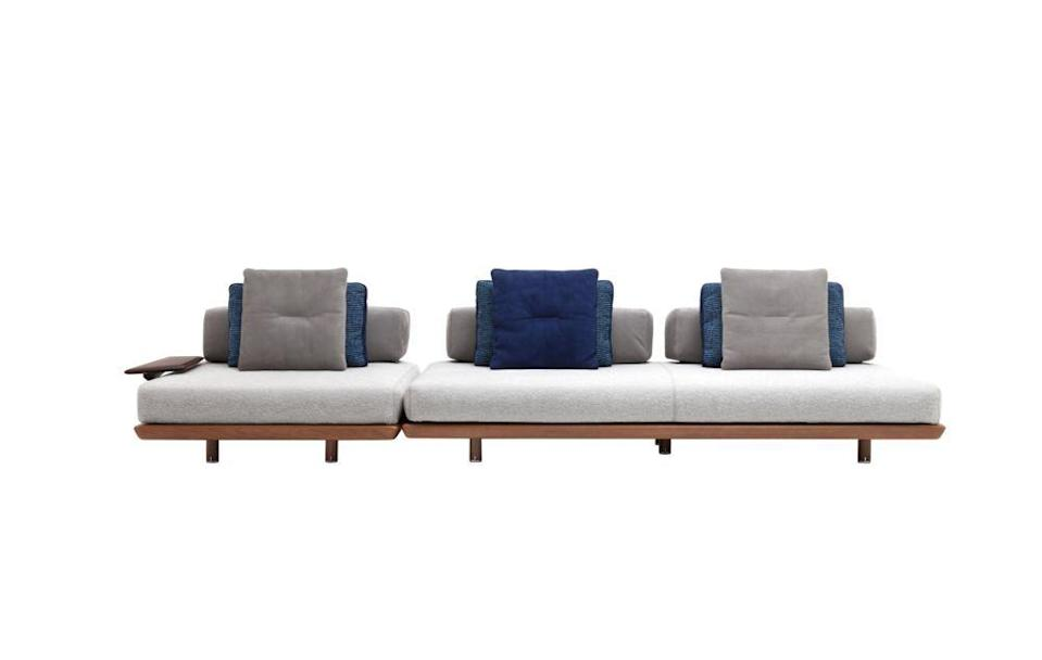 """<p><br>Crafted from mahogany, this design by Massimo Castagna is a truly modular offering. Add occasional tables, adjust the depth of the cushions, rotate the backrests and armrests to suit your lounging style… it's all up to you. £20,110, <a href=""""http://globalluxurylondon.com/"""" rel=""""nofollow noopener"""" target=""""_blank"""" data-ylk=""""slk:Global Luxury London"""" class=""""link rapid-noclick-resp"""">Global Luxury London </a></p>"""
