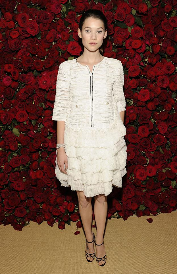 """<a href=""""http://movies.yahoo.com/movie/contributor/1810169553"""">Astrid Berges-Frisbey</a> attends the Museum of Modern Art's 4th annual film benefit """"A Tribute to Pedro Almodovar"""" at the Museum of Modern Art on November 15, 2011 in New York City."""