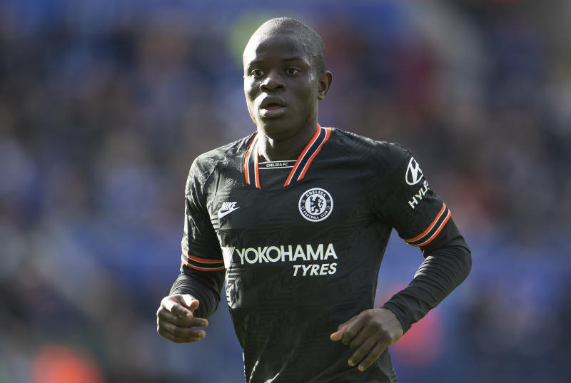 LEICESTER, ENGLAND - FEBRUARY 01: N'Golo Kanté of Chelsea during the Premier League match between Leicester City and Chelsea FC at The King Power Stadium on February 01, 2020 in Leicester, United Kingdom. (Photo by Visionhaus)