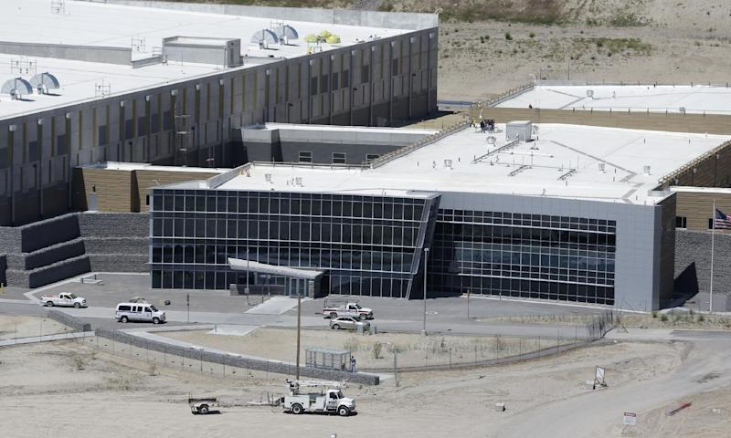 FILE - A June 6, 2013, file photo, is an aerial view of the NSA's Utah Data Center in Bluffdale, Utah. Electrical failures are complicating the opening of the National Security Agency's largest data storage center. The Army Corps of Engineers says it discovered the problem during tests ahead the fall opening of the $1.7 billion facility located south of Salt Lake City on a National Guard base. (AP Photo/Rick Bowmer, File)