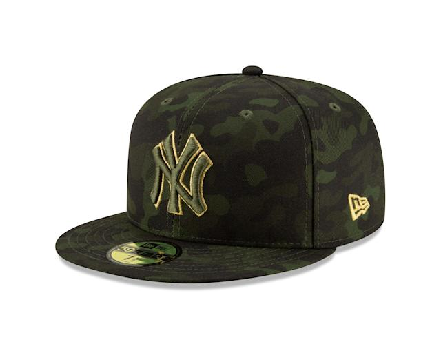 MLB plans to honor military members and their families throughout the weekend of Armed Forces Day, which is annually celebrated on the third Saturday of May. On this weekend connected to the day where citizens unite and honor military heroes for their patriotic service in support of the U.S., MLB players and Club personnel will wear camouflage-designed caps with their uniforms. The right side of the caps feature a five-starred emblem to represent the five branches of the U.S military.