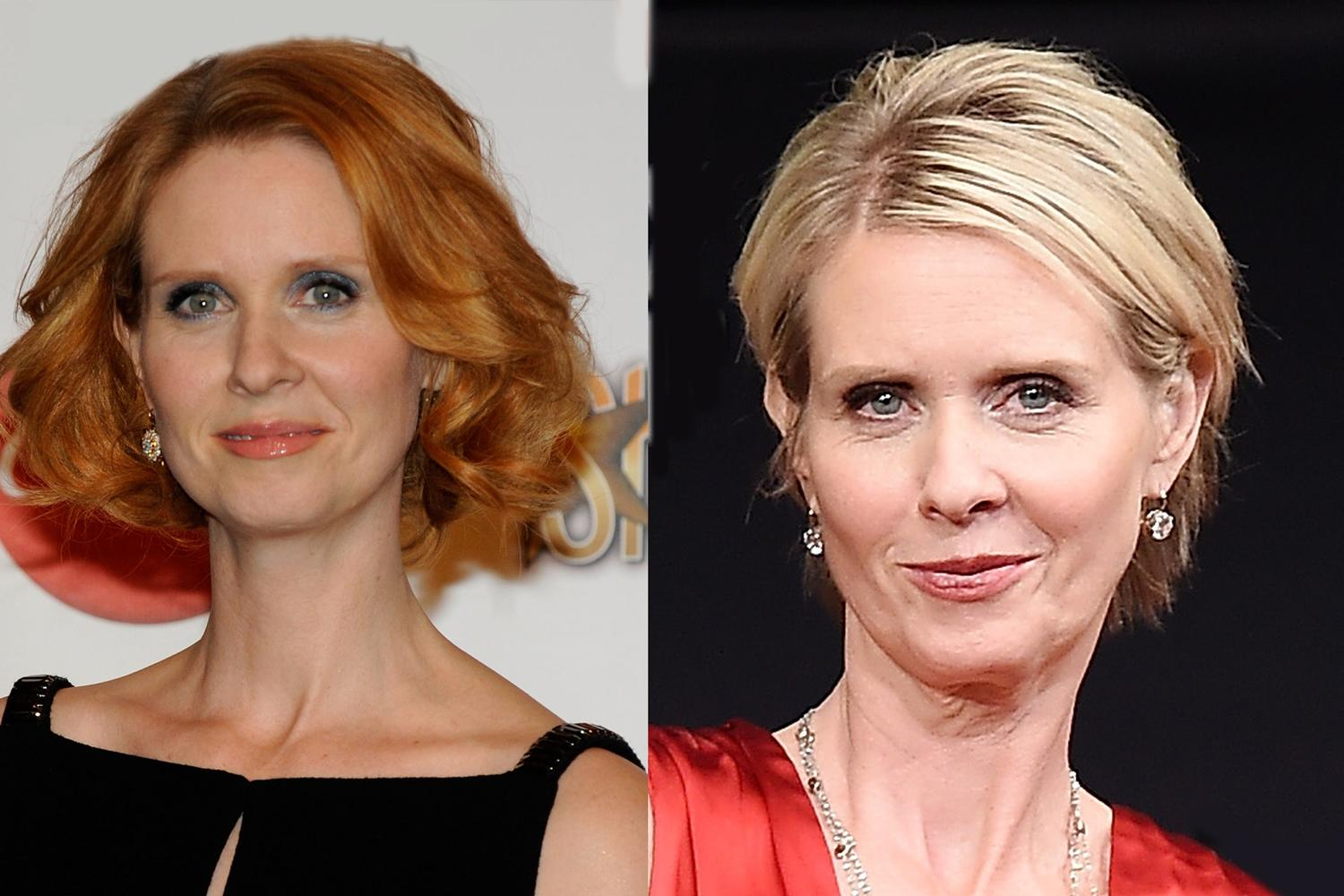 Cynthia Nixon Natural Hair Color