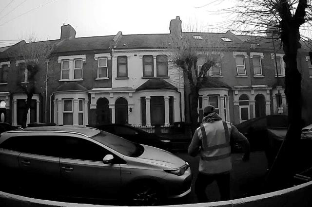 Doorbell camera captures street cleaner busting dance moves to his music