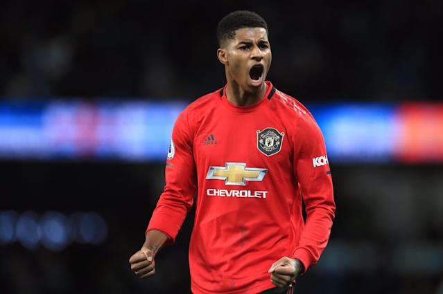 Marcus Rashford and Manchester United stunned Manchester City at the Etihad. (Photo by Mike Egerton/PA Images via Getty Images)