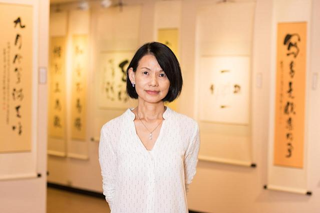 At Age 68 Chinese Brush Painter And Calligrapher Wu Li Ying Aced The Entrance Examination Of The College Of Art Design Hsuan Chuang University