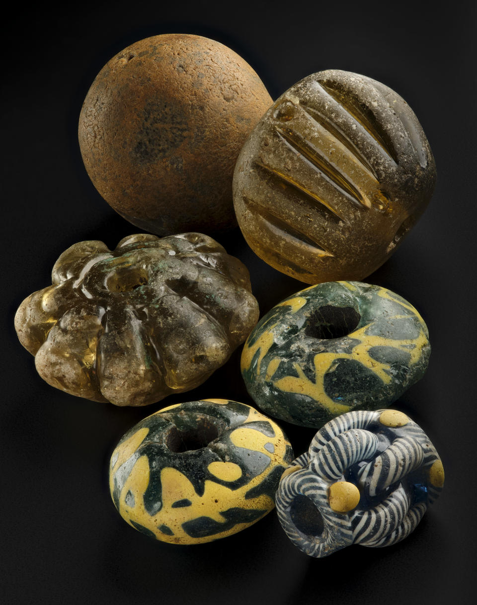 Glass beads from Galloway Hoard