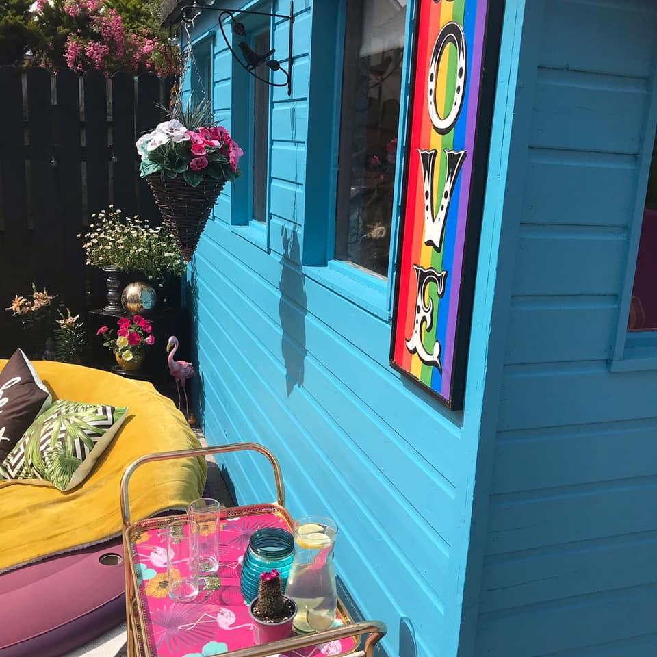 Crilly had a dream about a turquoise shed, which provided inspiration for the space. (Latestdeals.co.uk)
