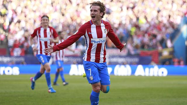"""Antoine Griezmann was again asked about his future on Sunday, but the Atletico Madrid forward is still looking at the """"sunny"""" side of life."""