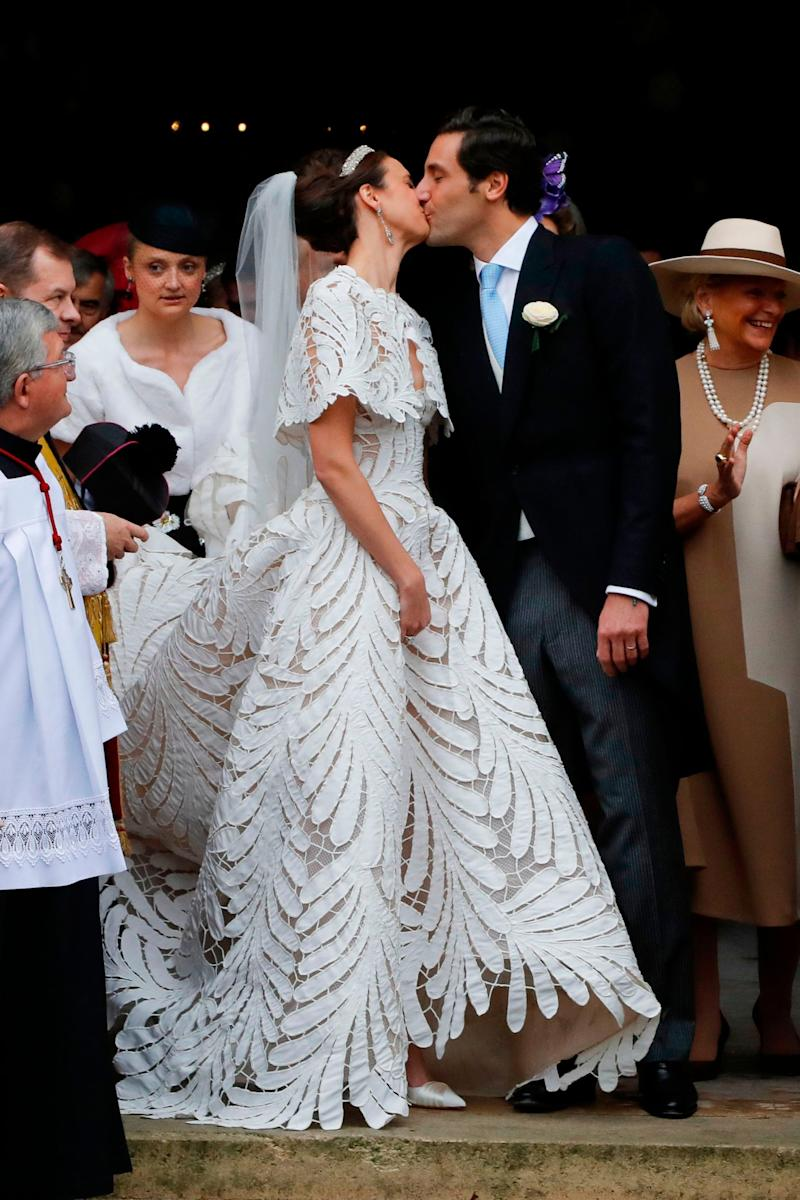 The royal newlyweds kissing (AFP via Getty Images)