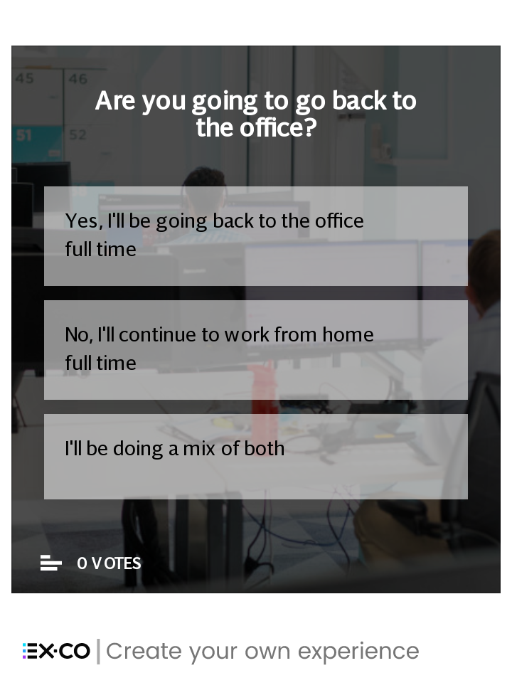 Back to work (in the office) poll