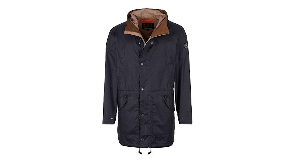 Barbour Fogle Wilderness Scarfell Waxed Cotton Parka Jacket