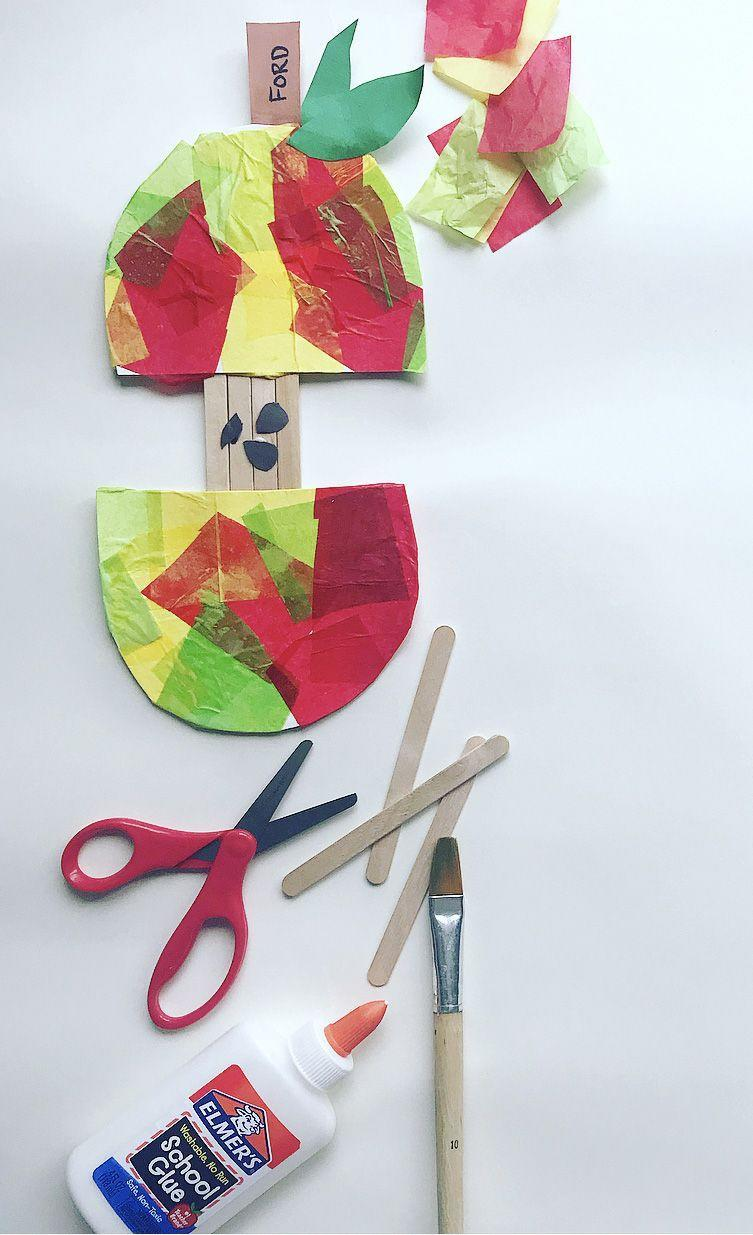 """<p>Even the little ones can get into the back-to-school DIY act with this tissue-paper apple tag. Note to tall the teachers out there: This also makes a good first-day-of-school activity, so every student can hang one on their desk. </p><p><em><a href=""""https://www.instagram.com/p/B2POebKBj0m/"""" rel=""""nofollow noopener"""" target=""""_blank"""" data-ylk=""""slk:Get the tutorial at Stay Small Art Club »"""" class=""""link rapid-noclick-resp"""">Get the tutorial at Stay Small Art Club »</a> </em></p><p><strong>RELATED:</strong> <a href=""""https://www.goodhousekeeping.com/life/g22550711/back-to-school-activities/"""" rel=""""nofollow noopener"""" target=""""_blank"""" data-ylk=""""slk:Ingenious Back-to-School Activities That Will Make Your Kids so Excited About Learning"""" class=""""link rapid-noclick-resp"""">Ingenious Back-to-School Activities That Will Make Your Kids so Excited About Learning</a><br></p>"""