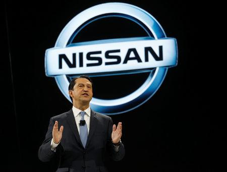 FILE PHOTO: Jose Munoz, Chairman of Nissan North America, speaks during the North American International Auto Show in Detroit, Michigan, U.S., January 9, 2017.  REUTERS/Rebecca Cook/File Photo