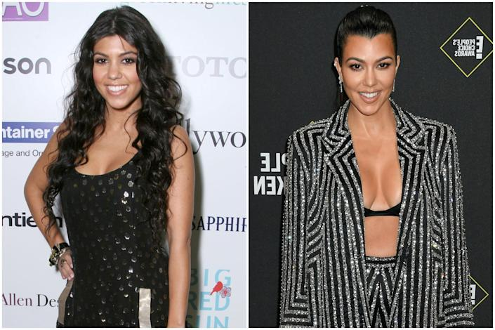 2007 vs now: Kourtney now runs her own lifestyle brand (Getty Images )