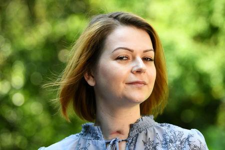 FILE PHOTO: Yulia Skripal, who was poisoned in Salisbury along with her father, Russian spy Sergei Skripal, speaks to Reuters in London, Britain, May 23, 2018.  REUTERS/Dylan Martinez/File Photo