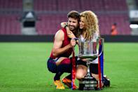 <p>Popstar Shakira and Gerard Pique have been together for eight years and have two children together – they met making the video for the 2010 World Cup in South Africa </p>