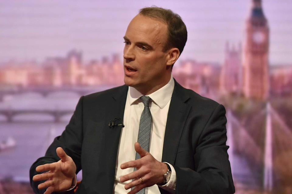 Dominic Raab appears on the BBC's Andrew Marr Show: REUTERS