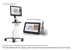 The iTero Element Plus Series Next Generation of Scanners and Imaging Systems. The iTero Element 5D Plus imaging system needs a full barrier wand sleeve and vent cover in the US.