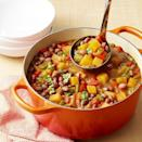 """<p>This cozy winter dish is perfect when you're looking for something warm and delicious. Filled with beans and squash, you can skip the meat and still be fully satisfied. If you're craving a grain, add in some protein-rich quinoa. <br></p><p><em><a href=""""https://www.womansday.com/food-recipes/food-drinks/a29513731/red-bean-and-calabaza-stew-recipe/"""" rel=""""nofollow noopener"""" target=""""_blank"""" data-ylk=""""slk:Get the Red Bean and Calabaza Stew recipe."""" class=""""link rapid-noclick-resp"""">Get the Red Bean and Calabaza Stew recipe.</a></em></p>"""