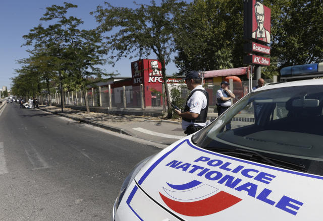 <p>A police car parks near a bus stop in La Valentine district after a van rammed into two bus stops in the French port city of Marseille, southern France, Aug. 21, 2017. (Photo: Claude Paris/AP) </p>