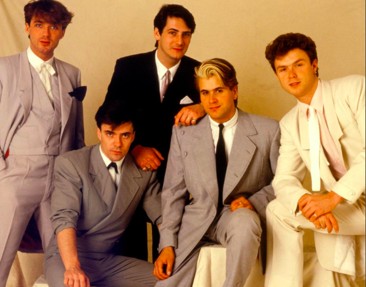 Eighties band Spandau Ballet rocked the New Romantic floppy locks. Source: Getty