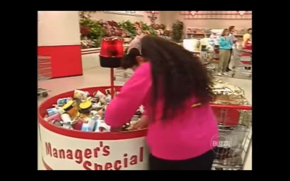 """<p>With three separate contestants running through the aisles it's necessary for each of them to have their own cameraman. But in Futia's case, his camera man proved to be instrumental. """"I don't know if he helped the other people out but he was helping me out because I was just grabbing the meats and throwing them in. He was like, """"you know you can look at the prices because some are more expensive than others,"""" <a href=""""https://tv.avclub.com/what-was-it-like-to-be-on-supermarket-sweep-1798271210"""" rel=""""nofollow noopener"""" target=""""_blank"""" data-ylk=""""slk:said Futia."""" class=""""link rapid-noclick-resp"""">said Futia. </a></p>"""