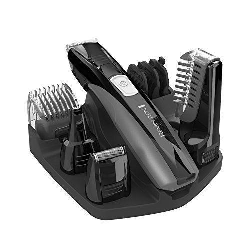 """<p><strong>Remington</strong></p><p>amazon.com</p><p><strong>$27.97</strong></p><p><a href=""""https://www.amazon.com/dp/B00GUGIFF0?tag=syn-yahoo-20&ascsubtag=%5Bartid%7C2139.g.25423792%5Bsrc%7Cyahoo-us"""" rel=""""nofollow noopener"""" target=""""_blank"""" data-ylk=""""slk:BUY IT HERE"""" class=""""link rapid-noclick-resp"""">BUY IT HERE</a></p><p>What's great about this kit is that you can take it apart and wash the individual pieces under the faucet. No more banging your trimmer on the counter to get the hair out.<br></p>"""